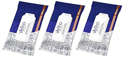 Vetro Power Leather Cleaning & Restoration Wipes - 10 pcs (Pack of 3)