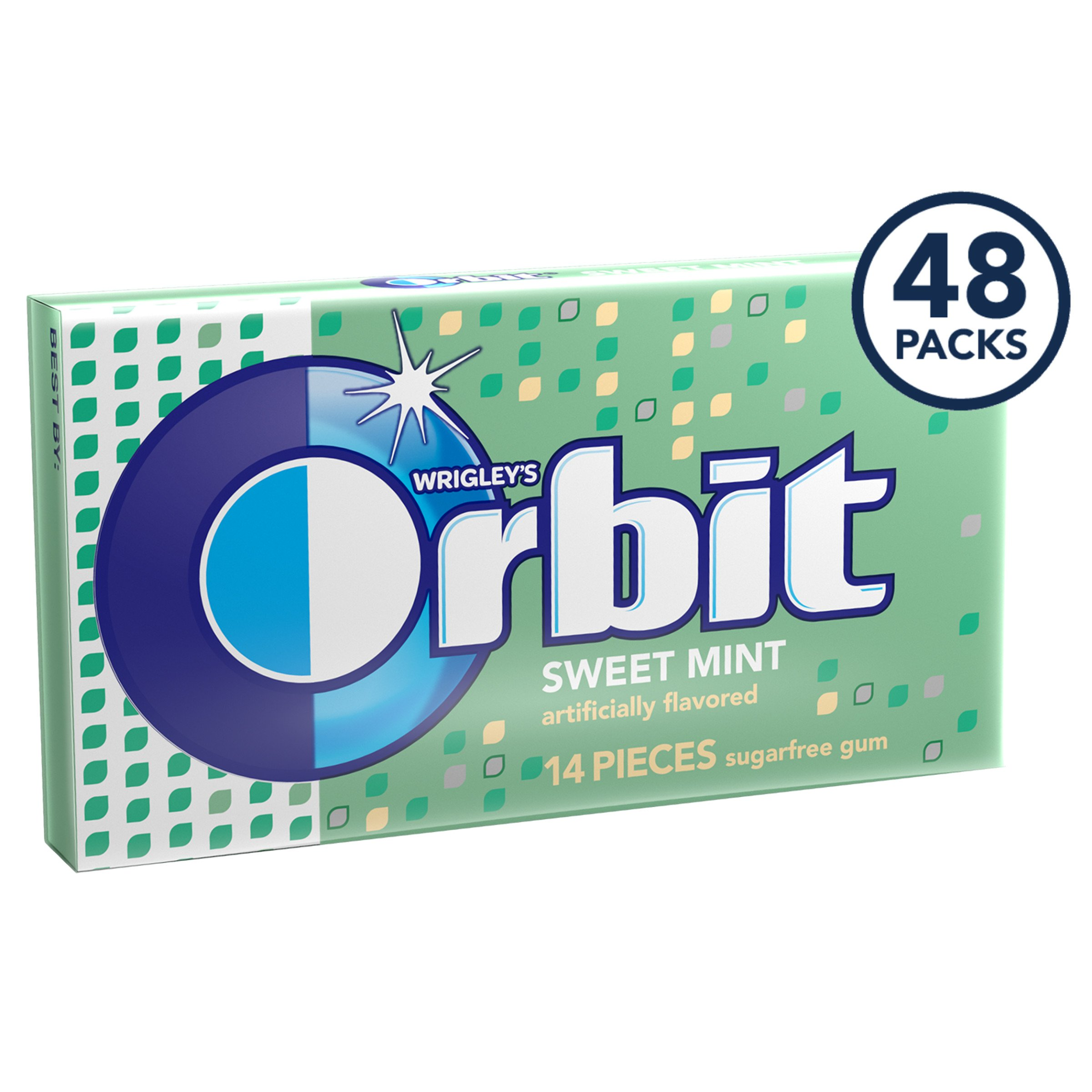 Orbit Sweet Mint Sugarfree Gum, 8 Count (Pack of 6) by Orbit Gum (Image #2)