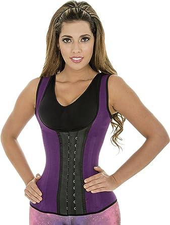 192fa414e9 Fiorella Shapewear Latex Sports Vest Waist Trainer Steel Boned Chaleco  Fajas Colombianas Reductoras 203M2 at Amazon Women s Clothing store