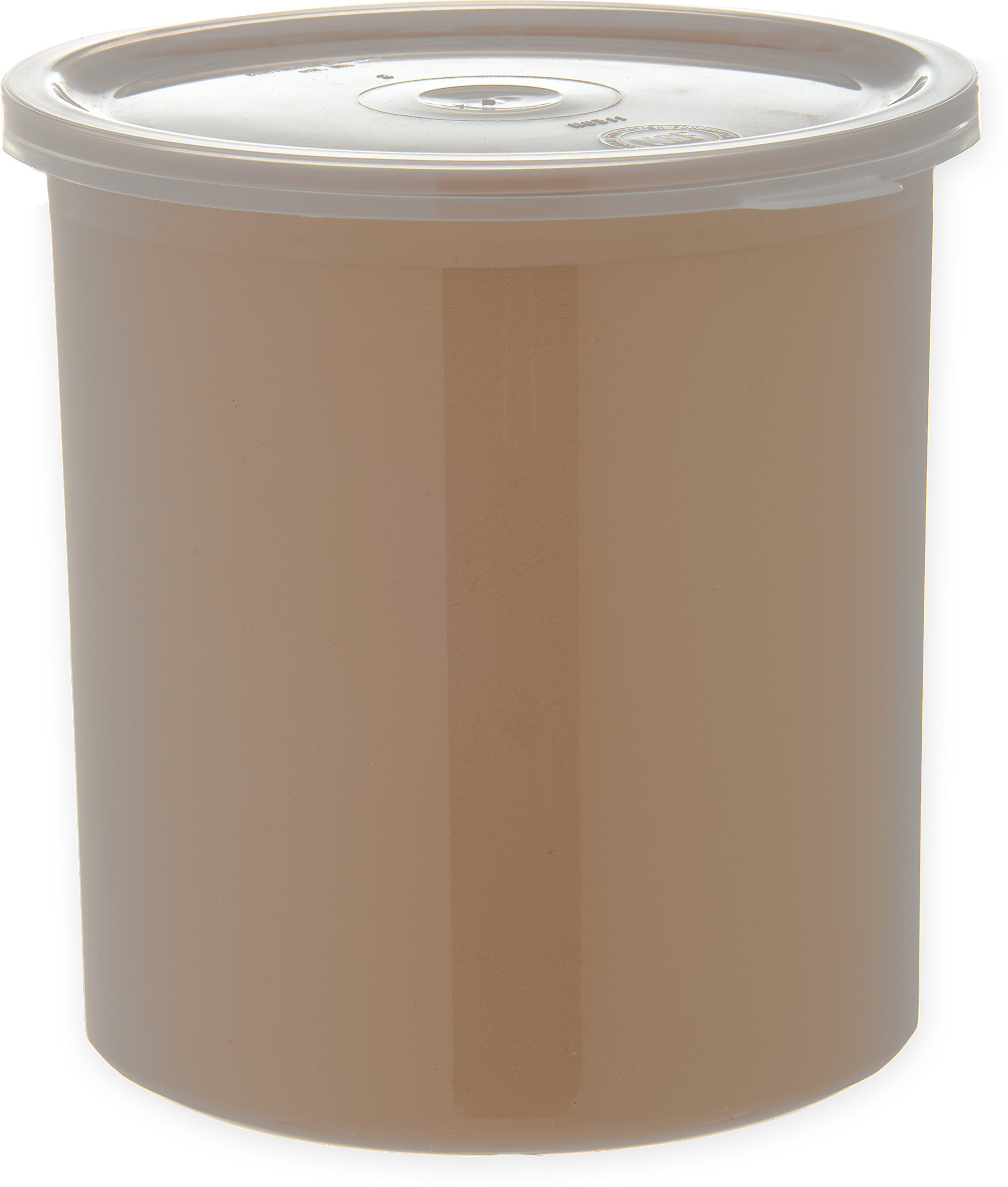 Carlisle 030106 Solid Color Commercial Round Storage with Lid, 1.2 Quart Capacity, Beige (Pack of 12)