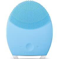 FOREO LUNA 2 Facial Cleansing Brush and Portable Skin Care device made with Ultra Hygienic Soft Silicone for Every Skin…