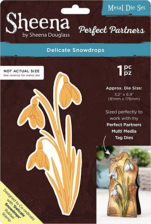 SHEENA DOUGLASS Perfect Partners Die Set DELICATE SNOWDROP SD-PPMD-DESN 1 Die