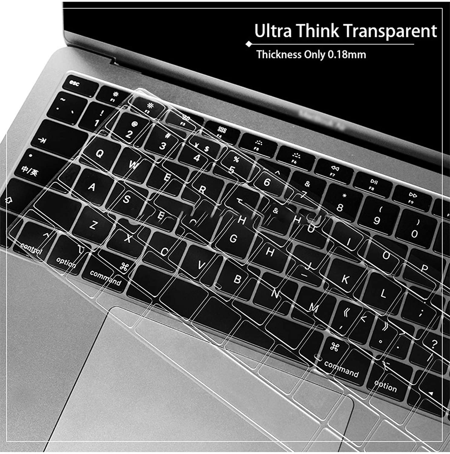 TPU Clear Keyboard Skin Silicone Protector Cover for MacBook Air 13.3 US EU Japan Version-Japan Version
