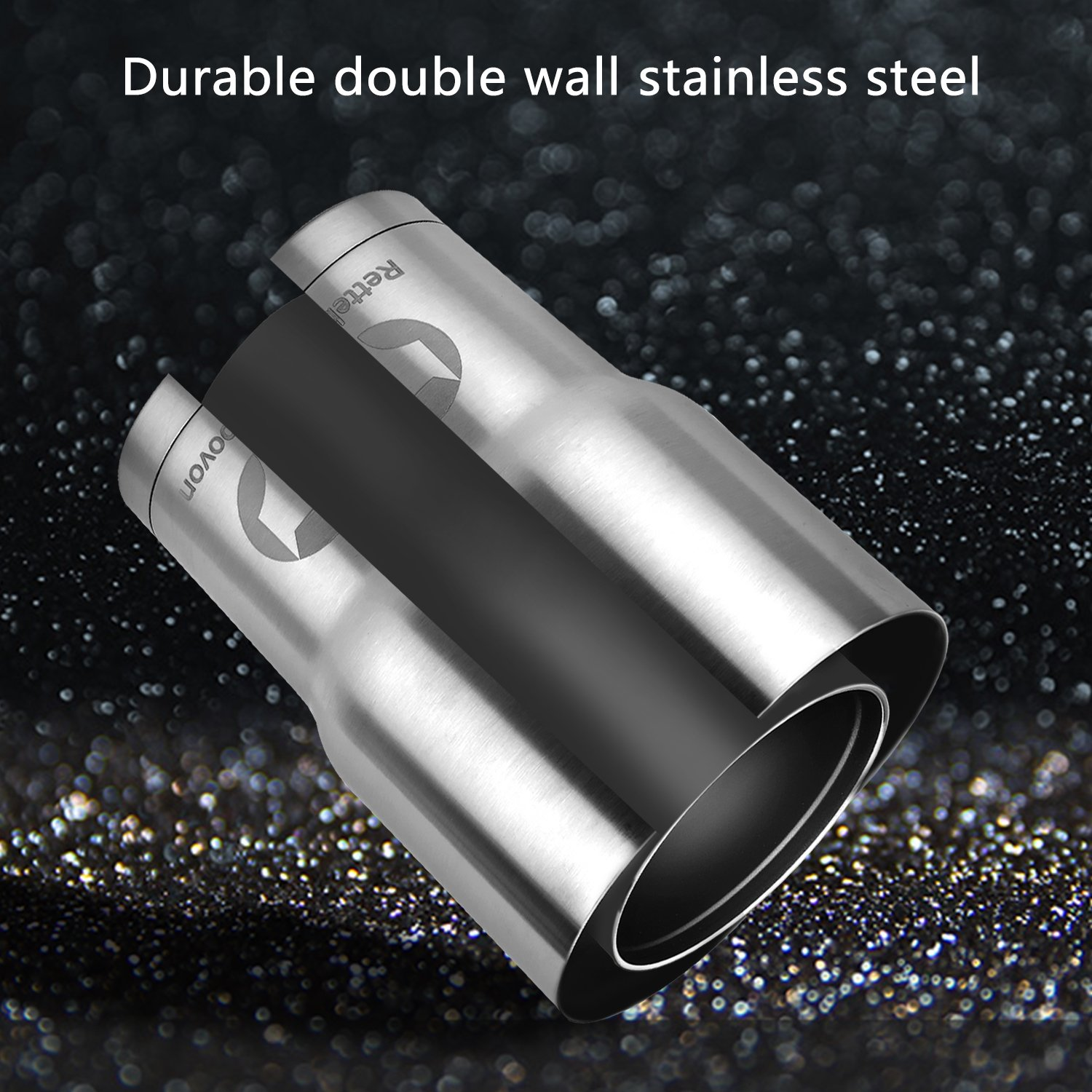Rettebovon 30oz Stainless Steel Tumbler With Straw Lid and Handle For Coffee Cup Travel Mug Double Wall Stainless Steel Vacuum Insulated Water Bottle 7PCS Set For Keeping Ice-Cold And Hot by Rettebovon (Image #3)
