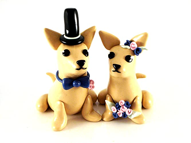 Amazon.com: Chihuahua Wedding Cake Toppers: Handmade