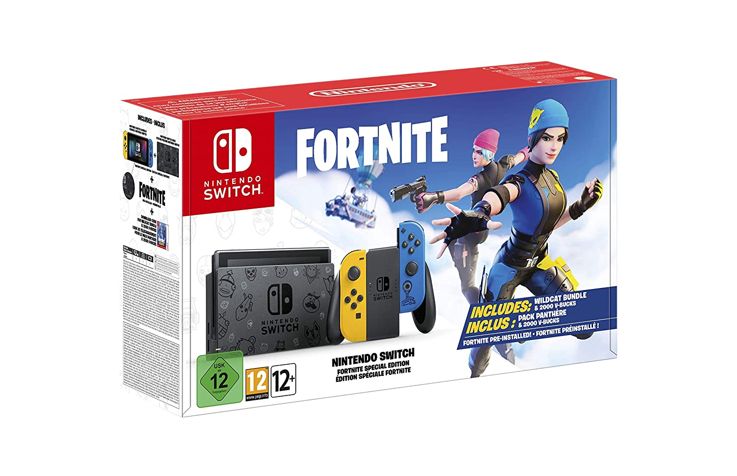 Nintendo Switch Fortnite Special Edition Bundle Amazon In Video Games