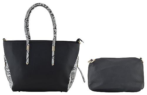 fff271bada Gouri Bags Stylish Trendy Black Handbags Shoulder Soft Leather Bag Women  Ladies Girl Purse Office Bag Party Wedding Casual PU Tote Gift Sale Handle  Handbag ...