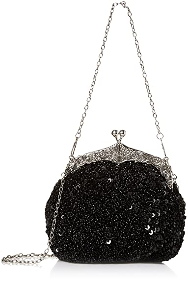 1920s Accessories | Great Gatsby Accessories Guide Chicastic Fully Sequined Mesh Beaded Antique Style Wedding Evening Formal Cocktail Clutch Purse $19.99 AT vintagedancer.com