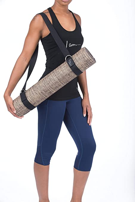 I Am Athletics Yoga MAT Carry Strap 2-in-1 Yoga Belt & Mat Carrying Sling - Adjustable, Lightweight, Durable Cotton. Excellent Grip for Stretching, ...