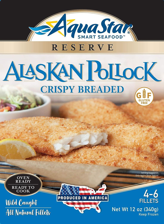 Aqua Star, Gluten Free Crispy Alaska Pollock, 12 oz (Frozen)