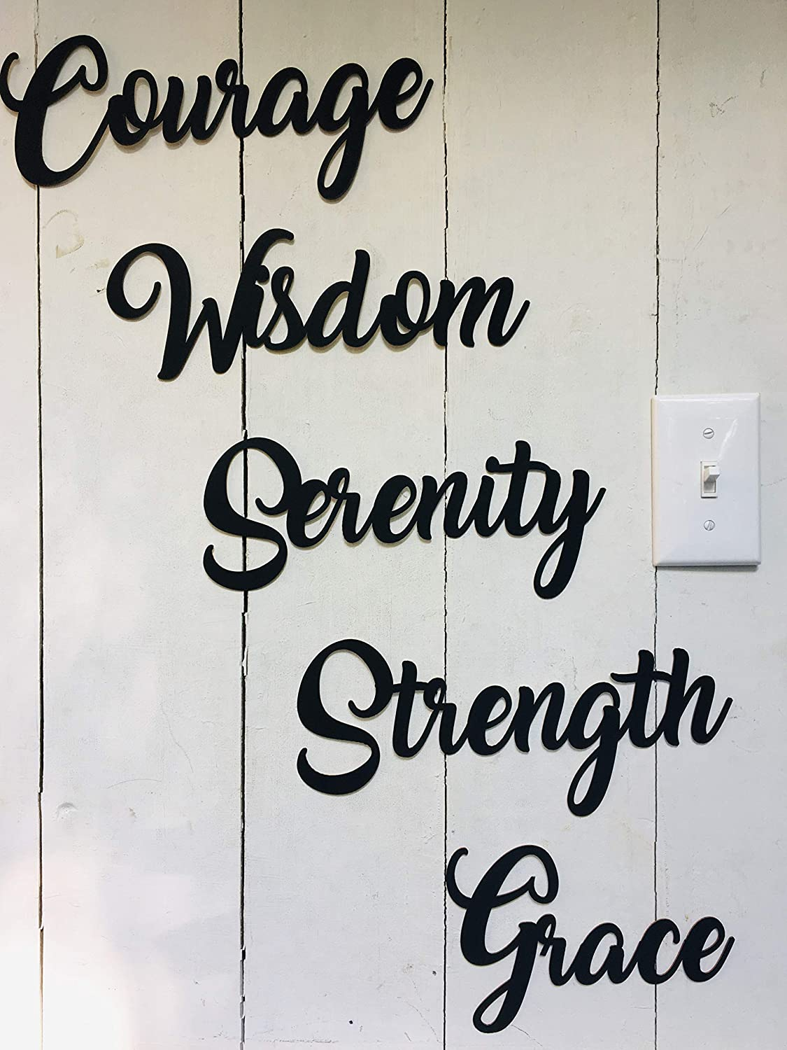 Courage Wisdom Serenity - Family Home College Dorm Not Vinyl Decal or Peel Stick Removable using Sticky Putty Paintable reusable Art Wall Décor Gift Inspiration ..