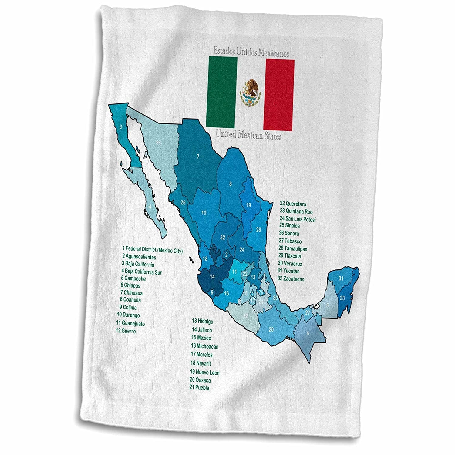 Amazon Com 3d Rose Flag And Map Of Mexico With All The Mexican