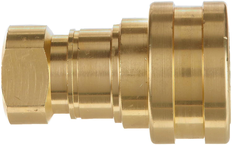 Eaton Hansen B6HP31 Brass ISO-B Interchange Hydraulic Fitting 3//4 Body Socket with Valve 3//4-14 NPTF Female