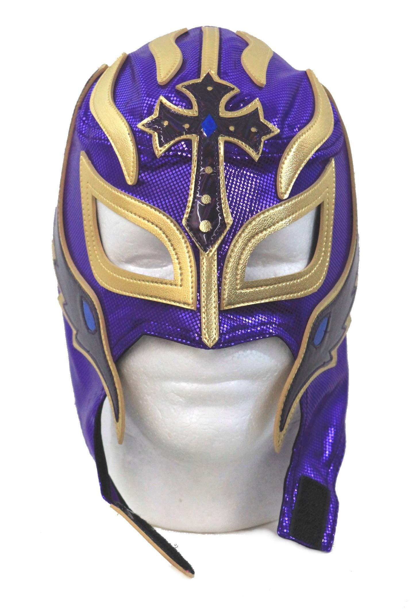 Leos Imports Rey Mysterio Lucha Libre Wrestling Mask (pro-grade) Costume Lycra -Purple