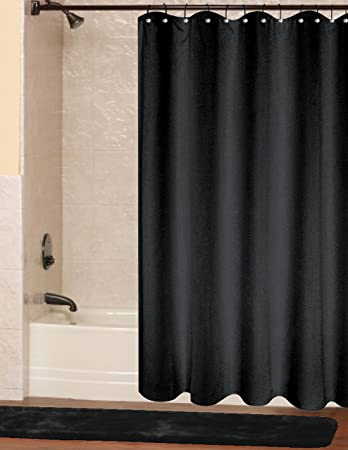 Exceptionnel RT Designers Collection Vinyl Shower Curtain Liner, 6 Gauge, Black