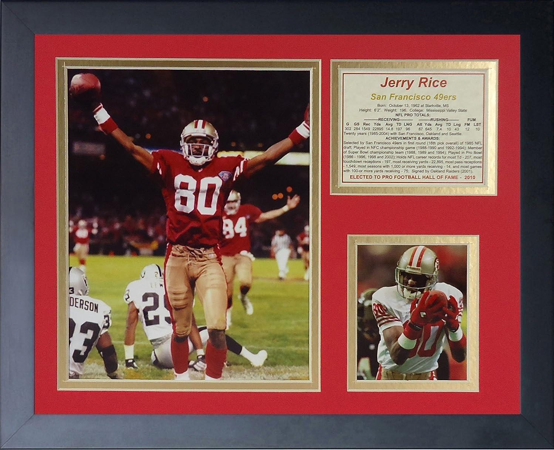 Legends Never Die Jerry Rice Touchdown Framed Photo Collage, 11x14-Inch 11440U
