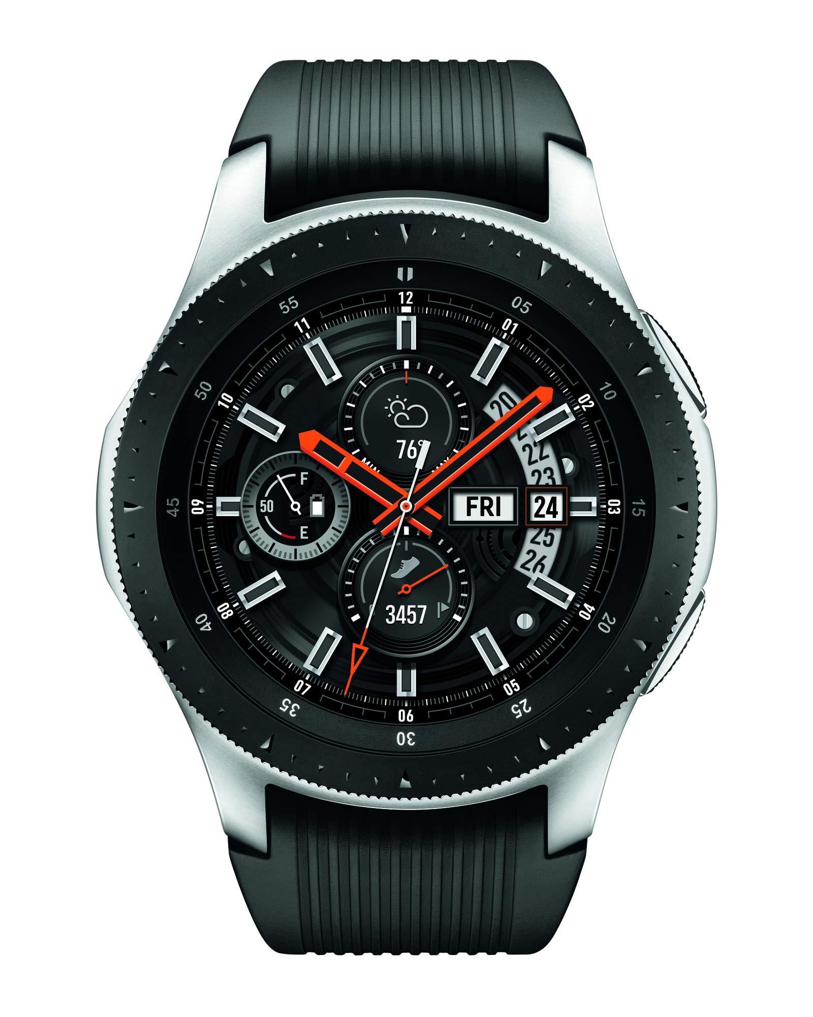 Samsung SM-R805UZSAXAR Galaxy Watch Smartwatch 46mm Stainless Steel LTE GSM (Unlocked), Silver by Samsung