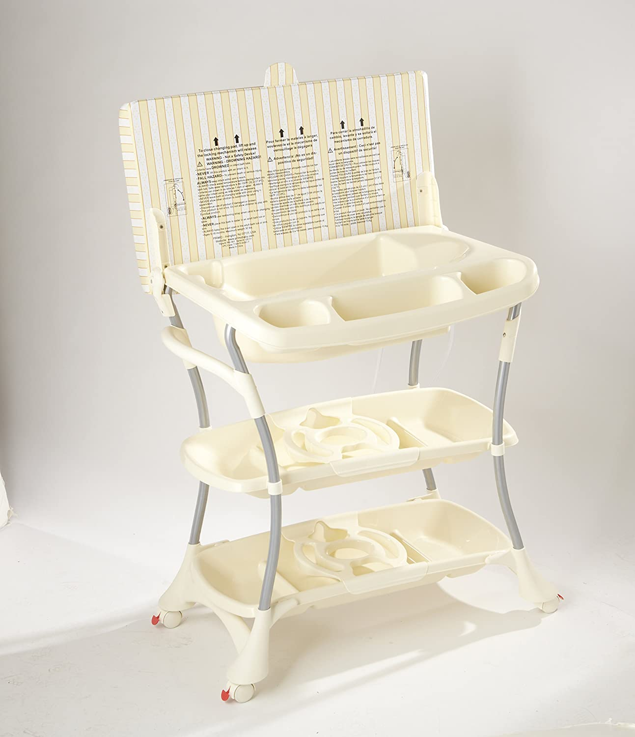 Primo EuroSpa Baby Bath and Changing Table Combination, Honey/Cream 351W