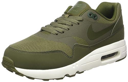 san francisco 9b4ca 73312 Nike Herren Air Max 1 Ultra 2.0 Essential Hallenschuhe Grün (Med  OliveLegion Green