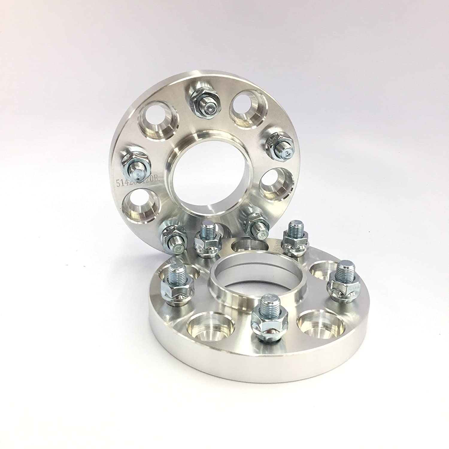 2 Pieces 0.787 20mm Hub Centric Wheel Spacers Bolt Pattern 5x114.3 5x4.5 25//32 Center Bore 67.1mm Thread Pitch 12x1.5 Stud