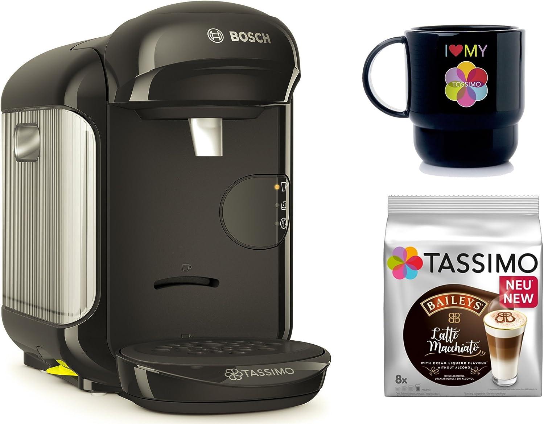 Bosch Tassimo Vivy 2 + T Discos de Bailey s + Tupper Taza Cápsula eléctrica negro: Amazon.es: Hogar