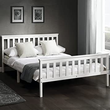 Laura James Tillbury 4 6 Double Wooden Bed White Frame Solid Nordic