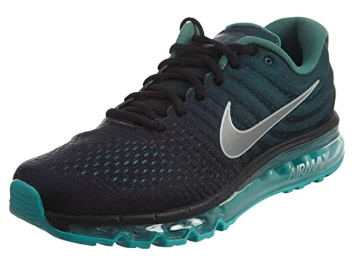 Nike Mens Air Max 2017 Running Shoes Black White Green Stone 849559-002  Size 9  Buy Online at Low Prices in India - Amazon.in e960c9ed7
