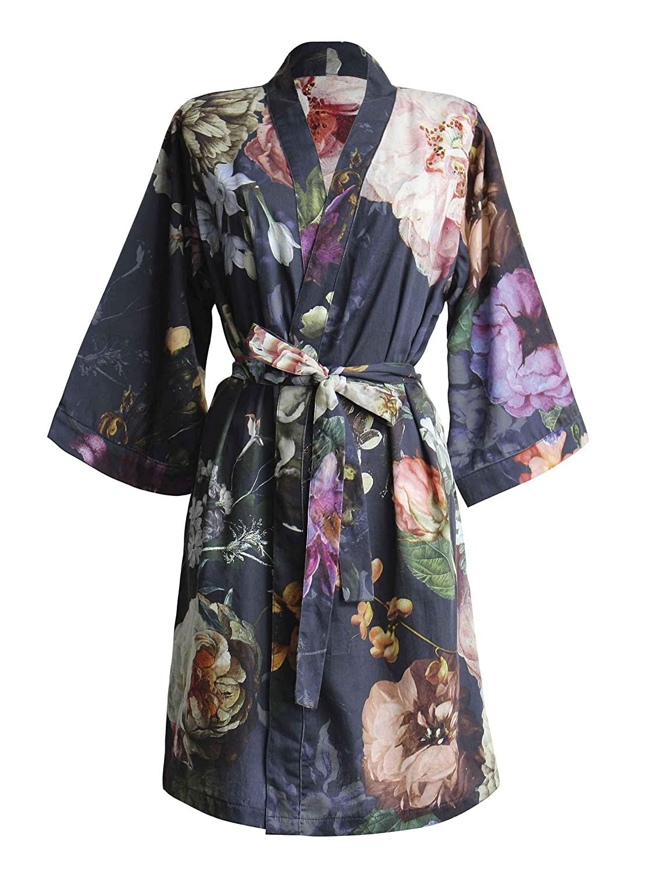 Essenza Satin-Kimono Fleur Größe M, Farbe Nightblue