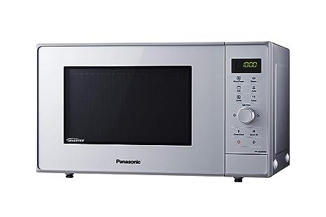 Panasonic NN-GD36H - Microondas con Grill (1000 W, 23 L, 6 niveles, Grill Cuarzo 1100 W, Plato Giratorio 285 mm, Control tácti L, 17 modos, Turbo ...
