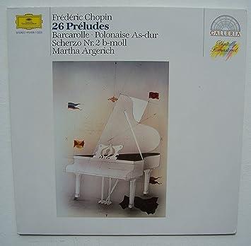 Chopin-Argerich -les 26 Preludes : Martha Argerich, Frédéric Chopin: Amazon.es: Música