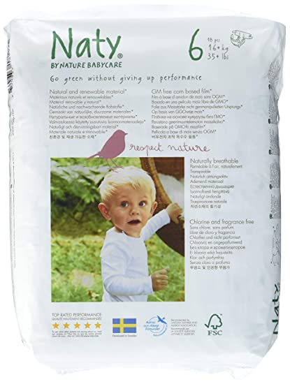 Naty By Nature Babycare - Pañales ecológicos - Talla 6 (16+ kg) -