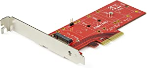 StarTech.com M2 PCIe SSD Adapter - x4 PCIe 3.0 NVMe / AHCI / NGFF / M-Key - Low Profile and Full Profile - SSD PCIe M.2 Adapter (PEX4M2E1)