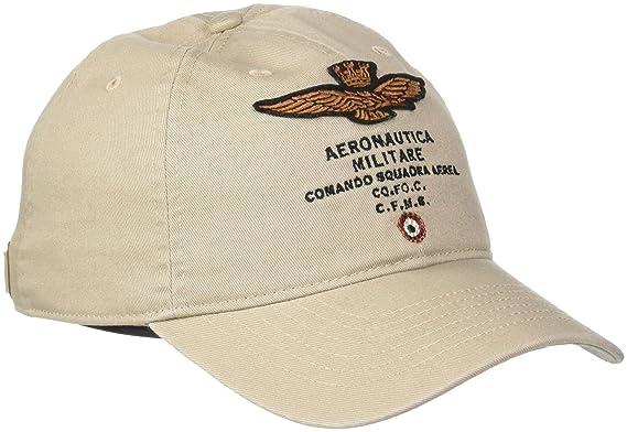 nouvelle sélection 60% pas cher outlet à vendre Aeronautica Militare Cappellino Casquette de Baseball, Beige ...