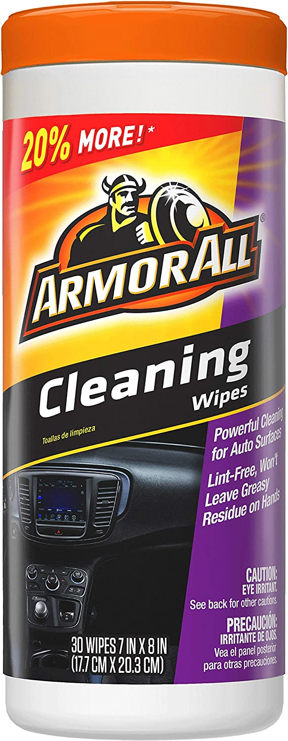 Armor All 17497C Car Interior Cleaner Wipes for Dirt & Dust 30 Count Cleaning for Cars & Truck & Motorcycle