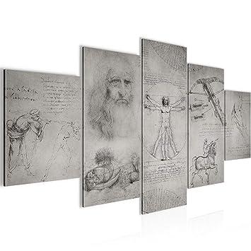 Kunstdruck Leinwand Vlies Werke Da Vinci Wanddeko Bild Bilder Wandbild XXL