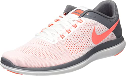 Nike Flex 2016 Run, Zapatillas de Trail Running para Mujer, Blanco (White/Bright Mango/Cool Grey), 42.5 EU: Amazon.es: Zapatos y complementos