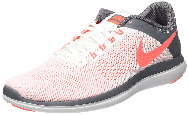 NIKE Women's Flex 2016 Rn Running Shoes B01MCRYQTD 12 B(M) US|White/Bright Mango/Cool Grey