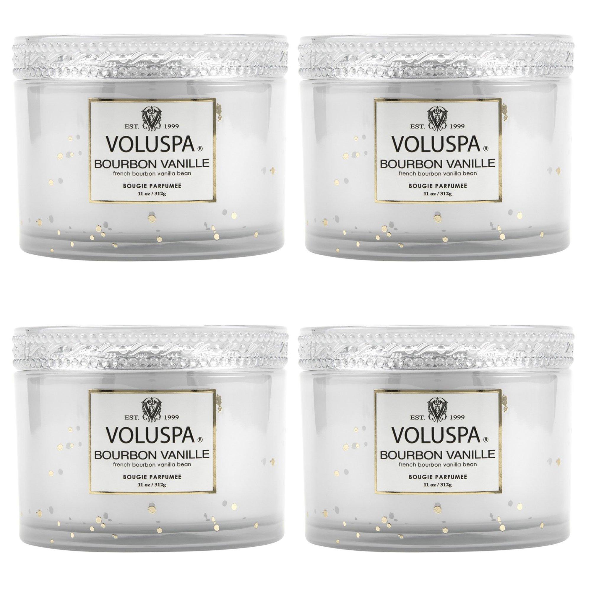 Voluspa Bourbon Vanille Corta Maison Candle 11 oz (4 pack)