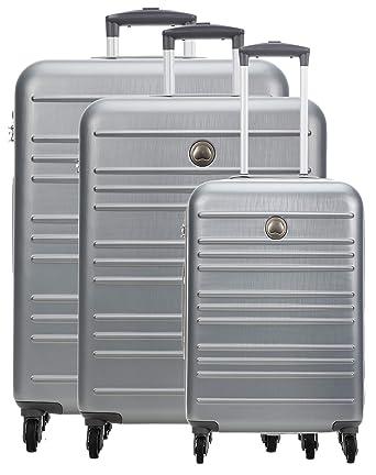 Delsey Carlit Juego de maletas (4 ruedas) plata 76: Amazon.es: Ropa y accesorios