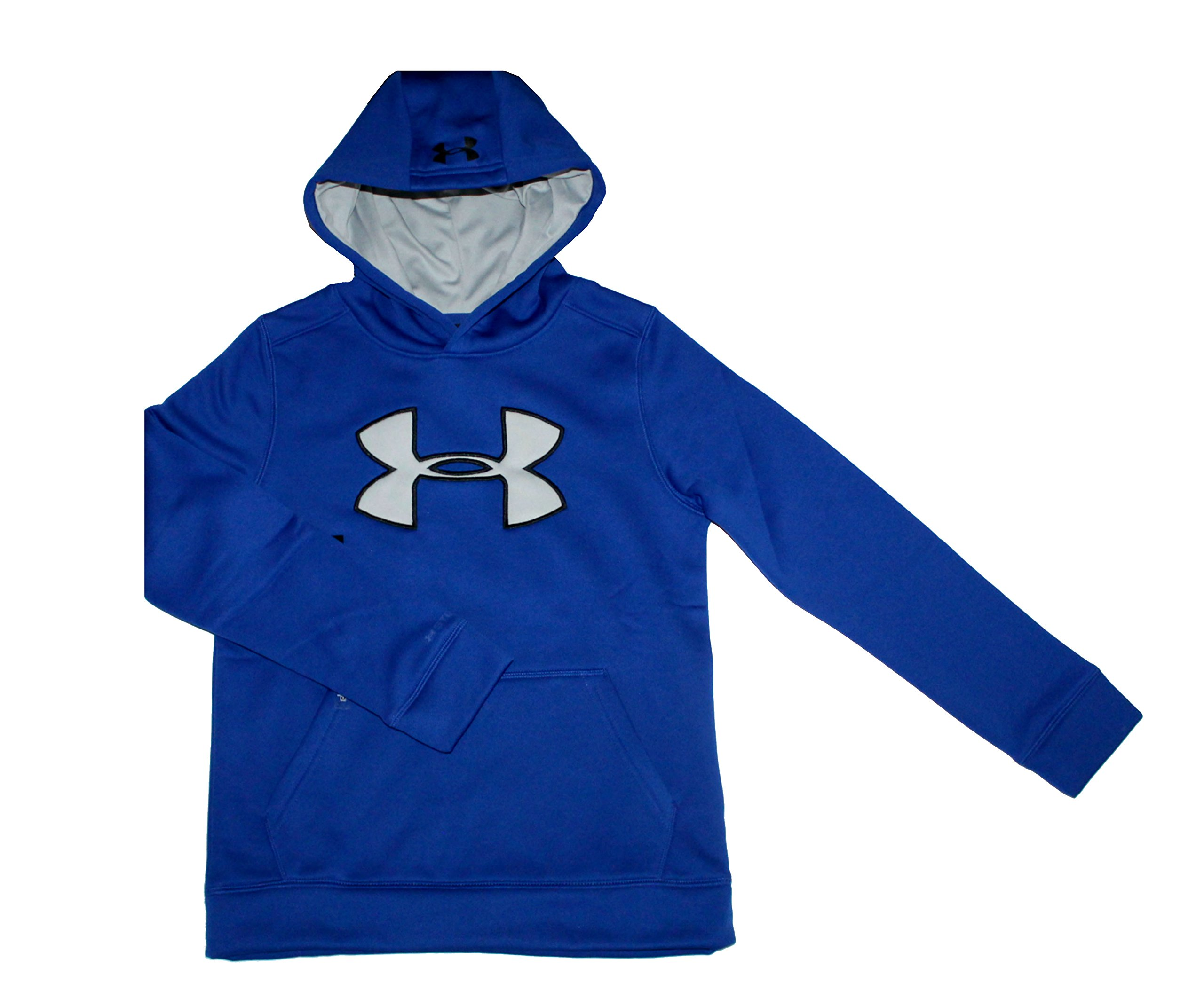 Under Armour Big Boys 8-18 Athletic Big Logo Storm Water resistant Hoodie Pullover, Royal Blue, S 8
