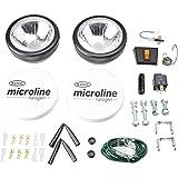 RING FBRL0562C 2 Projecteurs Microline Ronds Longue Portée + Cache Ring