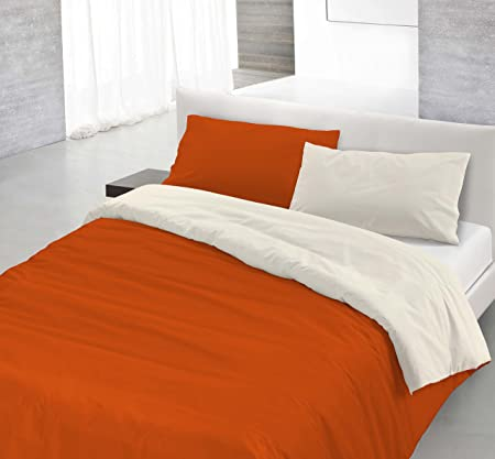 Terra-Double Duvet Cover Set Cream, made in italy 100% Pure Cotton ...