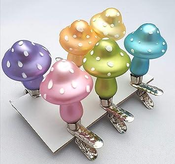 6 Fliegenpilze Pastell Am Clip Weihnachtsschmuck Weihnachsdeko