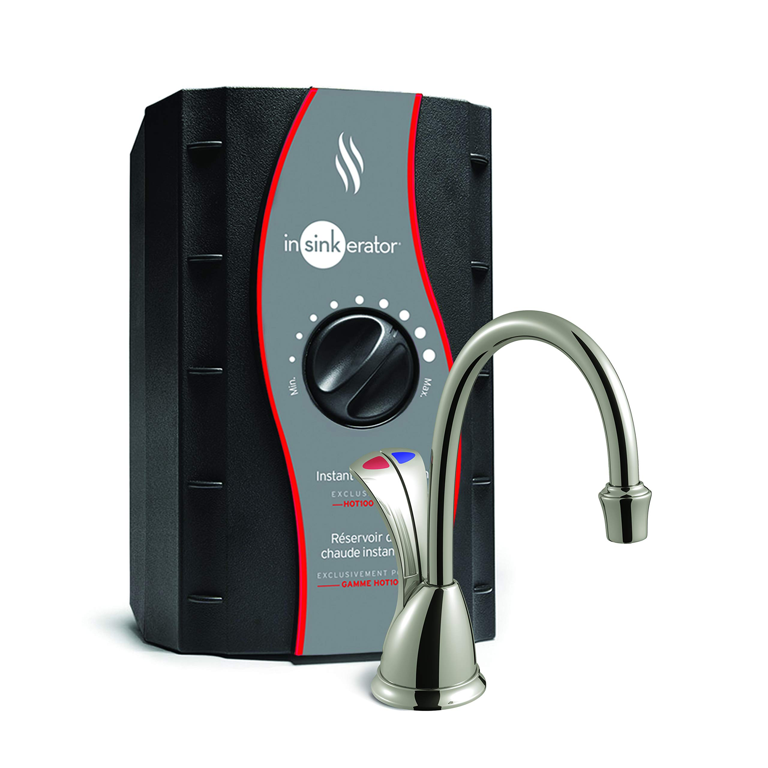 InSinkErator HC-WaveSN-SS Involve Series Wave Hot and Cold Water Dispenser with Stainless Steel Tank, Satin Nickel