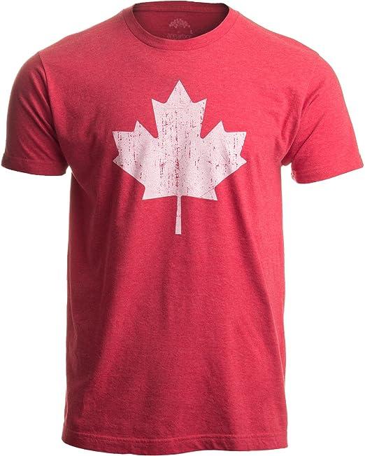 Ann Arbor T-shirt Company Diseño con la Bandera de Canadá - Camiseta Retro Unisex