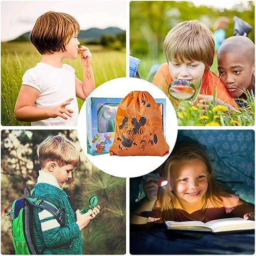 Funny House Exploración para Niños,26 Piezas Outdoor Explorer Kit Aventura al Aire Libre Juguetes 3-10 años Educativos Regalo de Cumpleaños para Niños con Mochila Brújula Binoculars: Amazon.es: Juguetes y juegos