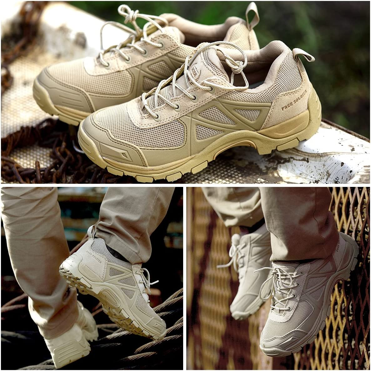 FREE SOLDIER Outdoor Rapid Non-Slip Camping Hiking Boots Mountain All-Terrain Off-Road Shoes