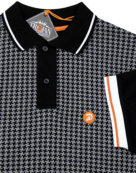 Trojan Records - Polo - para Hombre Negro Negro X-Large: Amazon.es ...