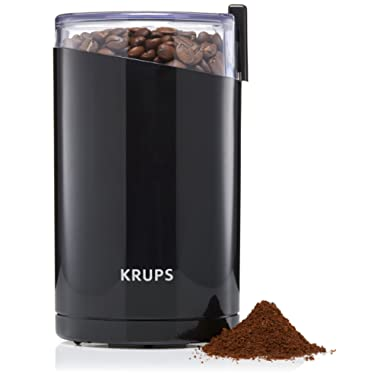KRUPS 1500813248 203 F203 Electric Spice and Coffee Grinder with Stainless Steel Blades, 3-Ounce, Black