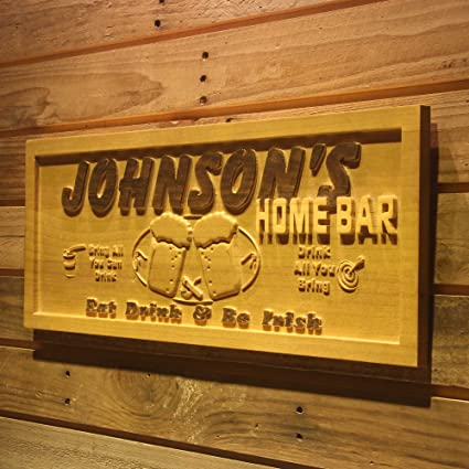 Wpa0053 Name Personalized Home Bar Wooden 3d Engraved Sign Custom Gift Craved Bar Beer Home Decor